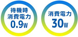 消費電力30w 待機電力0.9w